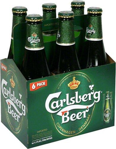 Carlsberg Beer 6pk 11 2oz Bottles