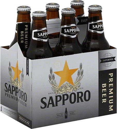 Sapporo Beer 6pk 12oz Bottles