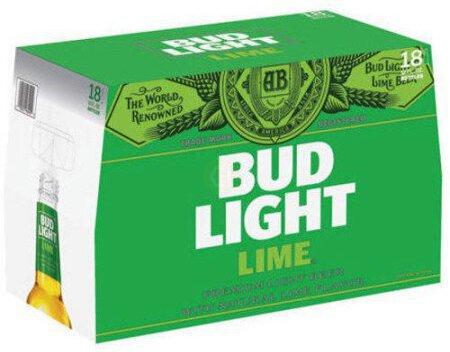 Bud Light Lime 18pk 12oz Bottles