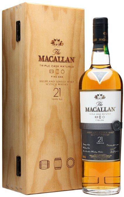 Macallan Fine Oak Single Malt Scotch Whisky 21yr