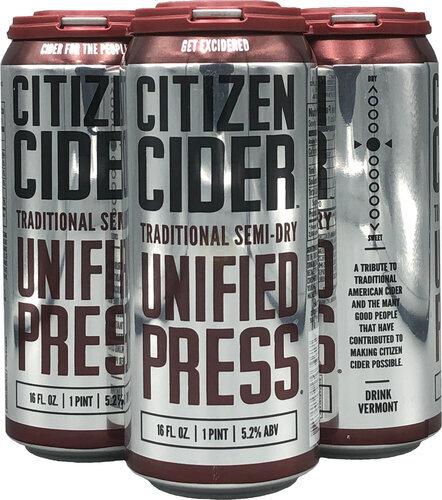 Citizen Cider Original Unified Press 4pk 16oz Cans