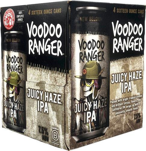 New Belgium Voodoo Ranger Juicy Haze IPA 4pk 16oz Cans