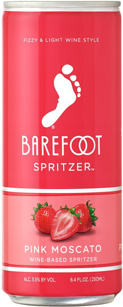 Barefoot Spritzer Pink Moscato 4pk Cans